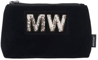 Apatchy London Personalized Small Pouch -Midnight Navy Velvet
