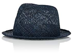 CA4LA Men's Trilby Straw Fedora - Dk. Blue 00505055567954