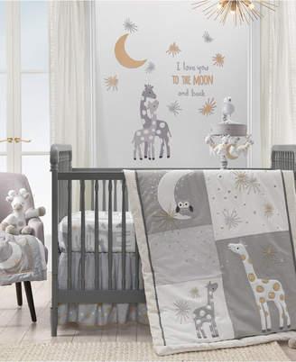 Lambs & Ivy Signature Moonbeams Giraffe with Moons and Stars 3-Piece Baby Crib Bedding Set Bedding