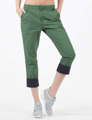 Band Of Outsiders Army Green Flat Front Pants with Contrast Cuff