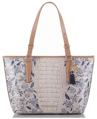 Brahmin Medium Asher Floral Print Leather Tote