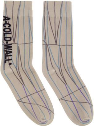 A-Cold-Wall* Grey Pattern Socks