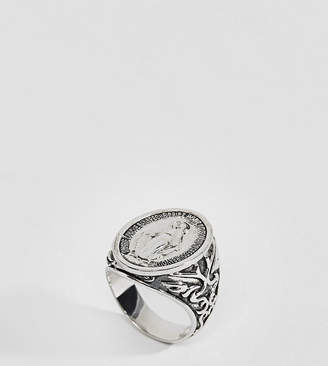 N. Rock 'N' Rose Rock Rose Sterling Silver Signet Ring