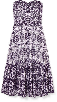 Jonathan Simkhai Embroidered Broderie Anglaise Cotton-blend Dress - Purple