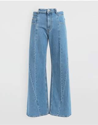 Maison Margiela Decortique Asymmetric Wide-Leg Pants