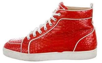 Christian Louboutin Rantus Orlato Flat Python Sneakers