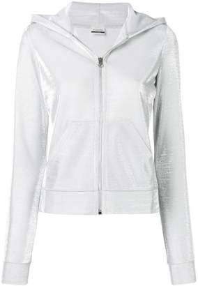 Pinko hooded zip front sports jacket