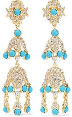 Kenneth Jay Lane Kenneth Jay Lane Woman Gold-tone Bead Clip Earrings Mint Size D0VaDUUvd
