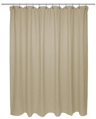 Carnation Home Fashions Standard Size 100% Cotton Chevron Weave Shower Curtain, dark linen.