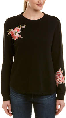 Ella Moss Floral Embroidered Sweatshirt
