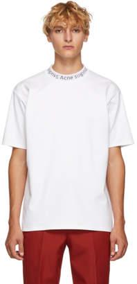 Acne Studios White Navid Logo T-Shirt