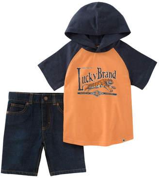 Lucky Brand Lucky Pant Hooded T-Shirt & Short