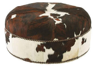 Massoud Furniture Jackson Cocktail Ottoman - Brown Hide