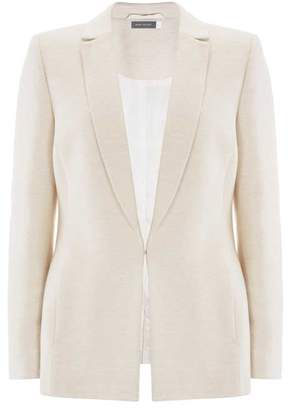 Mint Velvet Cream Ribbed Blazer