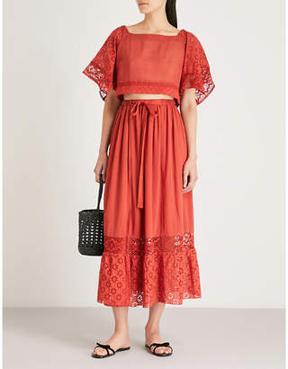 Free People Darling cotton top and skirt co-ord