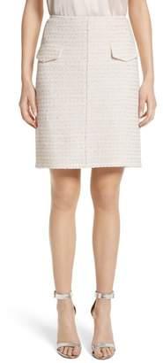 St. John Metallic Tweed Skirt