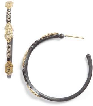 Armenta Old World Diamond Hoop Earrings