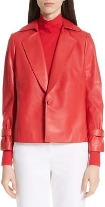 St. John Luxe Nappa Leather Jacket