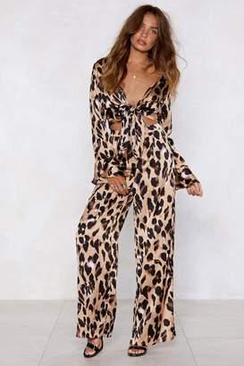 Nasty Gal So Fierce Leopard Wide-Leg Pants
