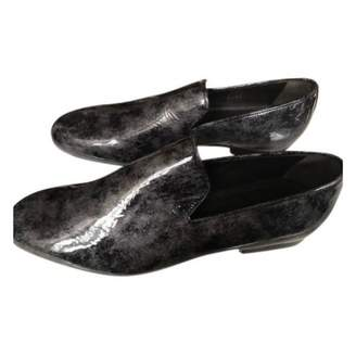 Jimmy Choo Anthracite Patent leather Flats