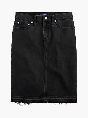 J.Crew Denim Pencil Skirt, Faded Black