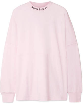 Palm Angels Printed Cotton-jersey Top - Baby pink