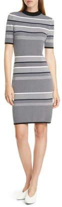 HUGO BOSS Sawery Stripe Crewneck Dress