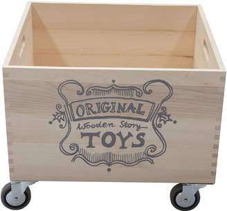 story. Wooden Promotions Wooden Storage Crate, Solid