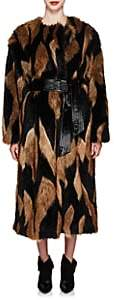 Givenchy Women's Faux-Fur Long Coat - Brown