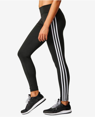 adidas ClimaLite® D2M Three Stripes Long Leggings $50 thestylecure.com