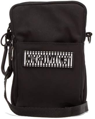 Off-White Off White Mini Rubber Logo Cross Body Messenger Bag - Mens - Black White