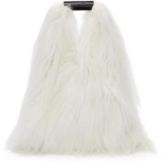 MM6 MAISON MARGIELA White Faux-Fur Shopping Tote