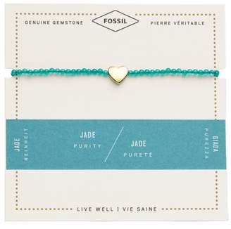 Fossil Jade Heart Bracelet jewelry GOLD