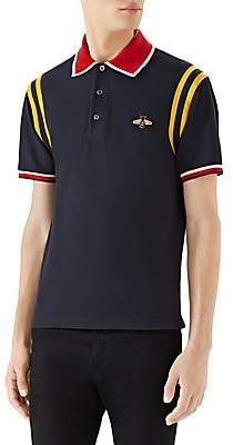 Gucci Men's Cotton Polo with Bee