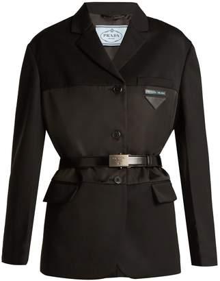 Prada Wool and satin-gabardine single-breasted blazer