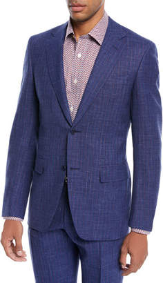 Canali Bead Striped Wool-Blend Two-Piece Suit