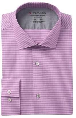 Calvin Klein Print Stretch Slim Fit Dress Shirt