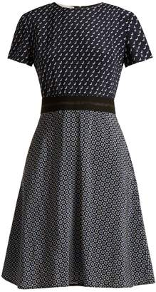 Stella McCartney Petra Tie-print fluted dress