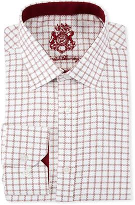 English Laundry Classic-Fit Herringbone-Gingham Dress Shirt