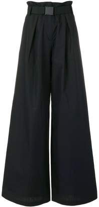 No.21 belted palazzo trousers
