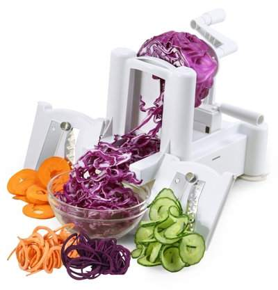COLORFUL ABS Vegetable and Fruit Turning Spiral Slicer Tomato and Onion Dicer for Zucchini Pasta Spaghetti and Vegetarian Cooking