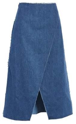 Simon Miller Long Denim Wrap Skirt