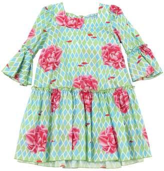 Peony Print Cotton Muslin Dress