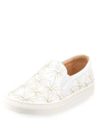Aquazzura Cosmic Pearl Slip-On Sneaker, Toddler/Youth Sizes 11T-2Y