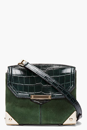 Alexander Wang Serpertine Green Leather & Suede Marion Prisma