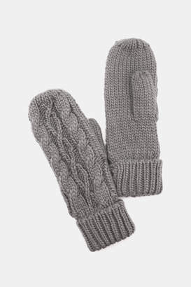 Ardene Cable Knit Mittens