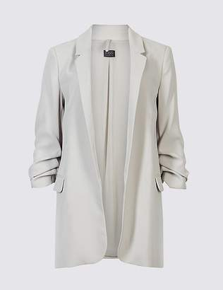 Marks and Spencer Crepe 3/4 Sleeve Blazer