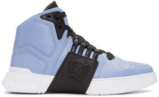 Versace Blue Medusa High-Top Sneakers
