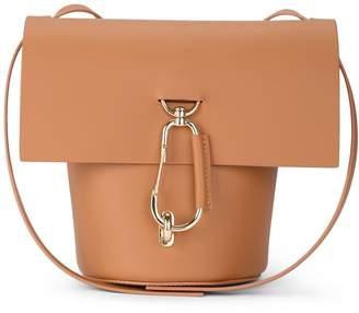 At Italist Zac Posen Belay Camel Leather Shoulder Bag