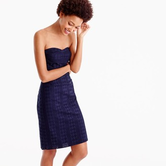 Petite strapless sheath dress in eyelet $178 thestylecure.com